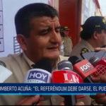 """Chiclayo: Humberto Acuña, """"El referéndum debe darse, el pueblo lo pide"""""""