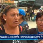 Ambulantes piden más tiempo para desalojar área pública