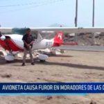 Avioneta causa furor en moradores de La Delicias