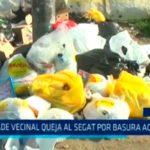 Alcalde vecinal queja al SEGAT por basura acumulada