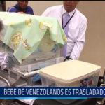 Chiclayo:  Bebe de venezolanos es trasladado a Lima