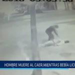 Chiclayo: Hombre muere al caer mientras bebía licor
