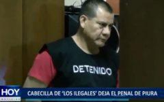 """Piura: Cabecilla de """"Los Ilegales"""" deja penal"""