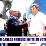 La Libertad: Candidato Carlos Paredes emite su voto