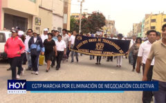 Chiclayo: CGTP marcha por eliminación de negociación colectiva