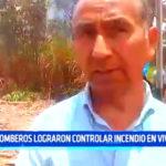 Chimbote: Bomberos lograron controlar incendio en vivero
