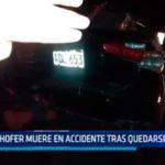 Chofer muere en accidente tras quedarse dormido