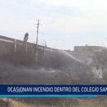 Chiclayo: Ocasionan incendio dentro del colegio San José