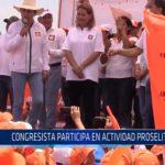 Chiclayo: Congresista participa en actividad proselitista