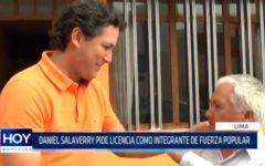 Daniel Salaverry pide licencia como integrante de Fuerza Popular