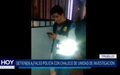 Detienen a falso Policía con chaleco de unidad de investigación