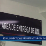 Chiclayo: 80 mil lambayecanos podrán votar con DNI caduco