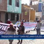 Chiclayo: Trabajadores de EAT Tumán reclaman sueldos atrasados