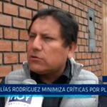 Elías Rodríguez minimiza críticas por plenario