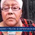 Iquitos: Pobladores y Policías se enfrentan en desalojo