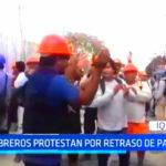 Iquitos: Obreros protestan por falta de pagos