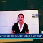 Colombia: Bentancourt pide que las Farc reparen a víctimas