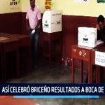 Chimbote: Así celebró Briceño resultados a boca de urna