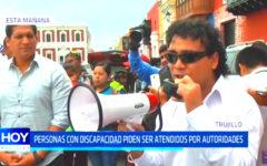 Personas con discapacidad piden se atendidos por autoridades