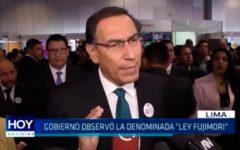 "Gobierno observó la denominada ""Ley Fujimori"""