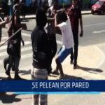 Chimbote: se pelean por pared