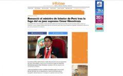 España: Así informó la prensa española la llegada de César Hinostroza al país