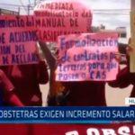 La Libertad: Obstetras exigen incremento salarial