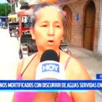 Iquitos: Vecinos mortificados con discurrir de aguas servidas en calles