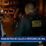 IRAM retira de calles a personas de mal vivir