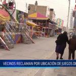 Chiclayo: Vecinos reclaman por ubicación de juegos de feria
