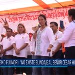 "Chiclayo: Keiko Fujimori: ""No existe blindaje al señor Cesar Hinostroza"""