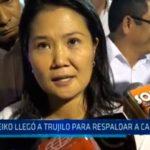 La Libertad: Keiko llegó a Trujillo para respaldar a candidatos