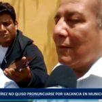 Piura: Ramírez no quiso pronunciarse por suspensión en municipio castellano