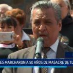 México: Miles marcharon a 50 años de masacre de Tlatelolco