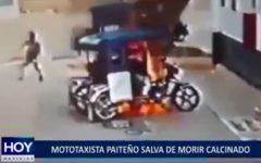 Piura: mototaxista paiteño salva de morir calcinado