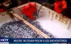 Piura: Multas excesivas no dejan pescar a los anchoveteros