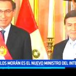 Carlos Morán es el nuevo Ministro del Interior