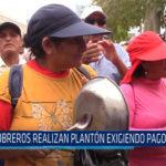 Chiclayo: Obreros realizan plantón exigiendo pago de bono