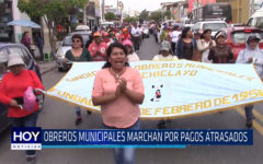 Chiclayo: Obreros municipales marchan por pagos atrasados