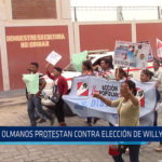 Chiclayo: Olmanos protestan contra elección de Willy Serrato