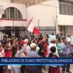 Chiclayo: Pobladores de Olmos protestan en Jurado Electoral