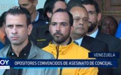 Venezuela: Opositores convencidos de asesinato de consejal