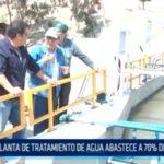 Planta de tratamiento de agua abastece a 70% de la población