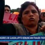 Pobladores de Guadalupito denuncian fraude frente al JEET