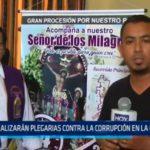 Realizarán plegarias contra la corrupción en La Esperanza