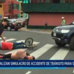 La Libertad: Realizan simulacro de accidente de tránsito para sensibilizar