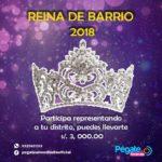 """Concurso """"La Reina del Barrio 2018"""" en Pegate al Mediodía"""