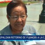 Respaldan retorno de Fujimori a la cárcel