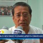 Robles desconoce plenario aprista convocado por Elías