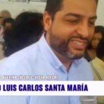 Votación de candidato Luis Carlos Santa María